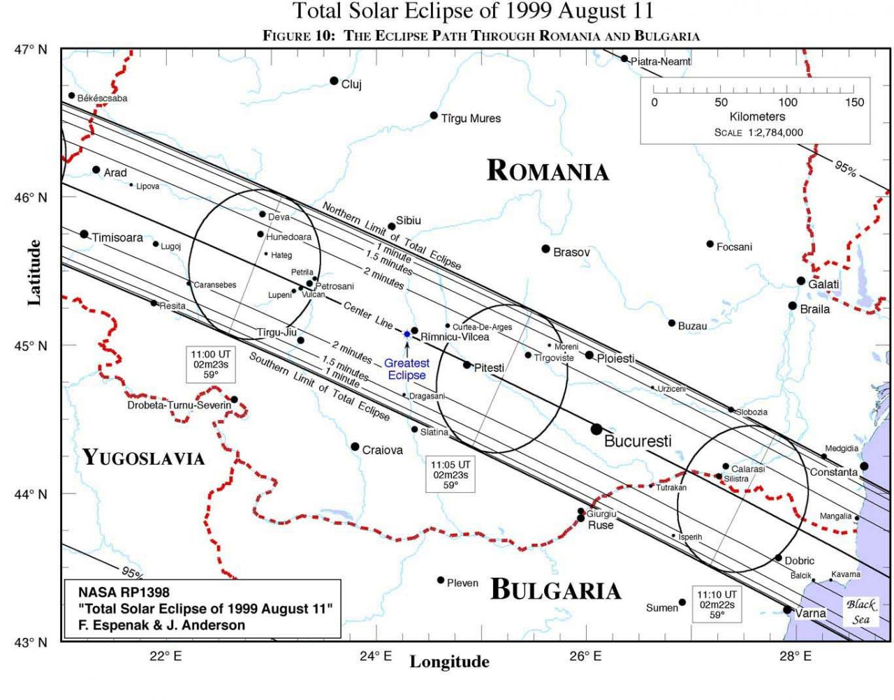 1999 Total Solar Eclipse in Romania